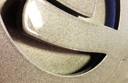 Custom CNC laser cut chrome finish